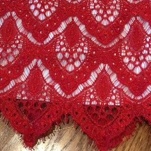 Rare Editions Dresses - NWOT! Gorgeous delicate red lace dress for girls